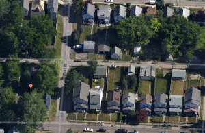 Not shown: Warren Ellis' Secret Dreamtime Love Compound on the neighboring block of my childhood.  (Google maps: ... )